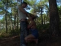Couple naturiste baise dans la foret